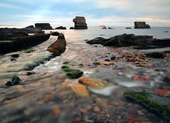 RECEDING (kenny barker) Tags: longexposure sea seascape landscape olympus ep1 kirkcaldy olympusep1 welcomeuk kennybarker