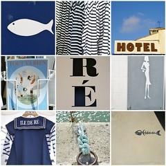 ile de r (wood & wool stool) Tags: blue france typography marine holidays blogged blanc vacance