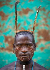Bana tribe whipper, Omo Key Afer, Ethiopia (Eric Lafforgue) Tags: portrait man artistic feather culture makeup tribal ornament whip tribes bodypainting tribe ethnic rite whipper bana tribo hamer adornment pigments headwear ethnology tribu banna eastafrica thiopien