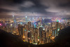 Hong Kong (Greg Annandale) Tags: china city mountain night clouds skyscraper canon buildings dark island hongkong lights bay high asia neon cityscape view harbour chinese peak victoria nighttime late thepeak kowloon viewpoint lightshow hdr tsimshatsui 1740 highup hongkongisland victoriapeak bankofchina victoriaharbour hongkongharbour hongkongbay canon5dmkii canon5dmk2 sky100