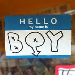 BOY (billy craven) Tags: boy chicago graffiti sticker handstyles slaptag uploaded:by=instagram