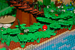 Fern Hoppers (Siercon and Coral) Tags: trees fern castle coral forest lego magic fantasy redwood archery guild mystic faerie elves hoppers moc lothlorien avalonia forestmen siercon