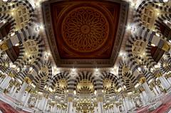Al-Masjid an-Nabawi (Yavuz Alper) Tags: fisheye dome kubbe medine umre mescidinebevi ottomanstyle balıkgözü