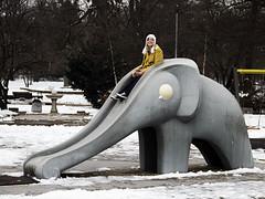 (The New Motive Power) Tags: park old city family winter urban snow elephant cold playground garden grey frozen model sofia iii slide historic bulgaria boris icy gradina tsar    canon7d knyazborisova