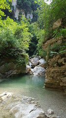 Gole del Salinello - pond and rocks (GlobalQuiz.org) Tags: gole del salinello mountains trekking