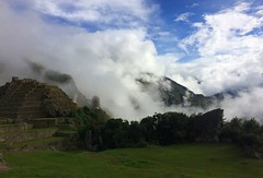 Glimpse of Sun & Fast Moving Clouds - IMG_3800 (Toby Garden) Tags: machu picchu ruins peru mysterious cloudy day