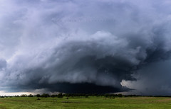 The Sulphur Wedge (Mike Olbinski Photography) Tags: 20160509 canon5dmarkiii canon1635mm28l farms fences hail oklahoma powerlines stormchasing sulphur supercells tornado trees