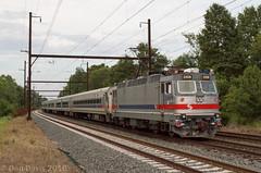 SPAX 2308 @ Yardley, PA (Dan A. Davis) Tags: septa alp44 pushpull passengertrain railroad locomotive train yardley pa pennsylvania