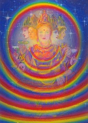Virgo  The Rainbow Aura of the World Mother (ludgerphilips) Tags: astrology spirituality divinemother rainbow