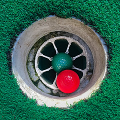 (231/366) In the Hole (CarusoPhoto) Tags: miniature golf john caruso carusophoto photo day project 365 366 iphone 6 plus square hole ball balls green grass cup