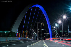 Clyde Arc Bridge (andyp178) Tags: bridge clydearc glasgow longexposure night light trail