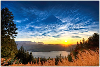 Grünberg Sonnenuntergang