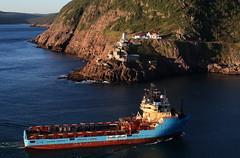 IMG_4959_Maersk_Norseman2 (daveg1717) Tags: maersknorseman maersk fortamherst fortamherstlighthouse fortamherstgunshelters ships stjohns stjohnsharbour thenarrows newfoundlandlabrador