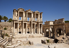 Library Of Celsus at Ephesus (chrisdingsdale) Tags: library celsus ancient old greek ruins structure roman building columns pillars classic two stories levels architecture architectural detail architecturaldetail archaeology archaeological historic landmark libraryofcelsus ephesus izmir turkey nobody