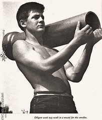 Bare-chested CCC boys provided relief from the Great Depression - 1941 (SSAVE w/ over 6 MILLION views THX) Tags: greatdepression civilianconservationcorps ccc boys youngmen workprogram 1929 1941 ccccamps handsome shirtless barechested beefcake