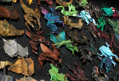 Origami (TheMachineStops) Tags: 2005 outdoor nyc newyorkcity origami streetfair paper folding colors colorful manhattan