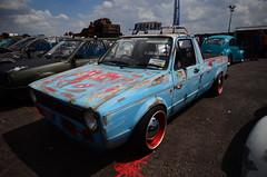 (Sam Tait) Tags: unjam 30 santa pod raceway england drag racing uk vw volkswagen k1 mk1 golf rabbit caddy pick up truck custom