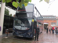 East Yorkshire 764 YX09GWK & Keith Holmes Museum Quarter, Hull at Big Bus Day 2016 (1280x960) (dearingbuspix) Tags: eastyorkshire eyms 764 bigbusday bigbusday2016 airbrushbus keithholmes britcom yx09gwk