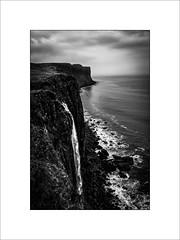 Mealt falls (tkimages2011) Tags: water waterfall kilt rock kiltrock mealt mealtfalls skye scotland mono monochrome cliffs shore sea clouds sky
