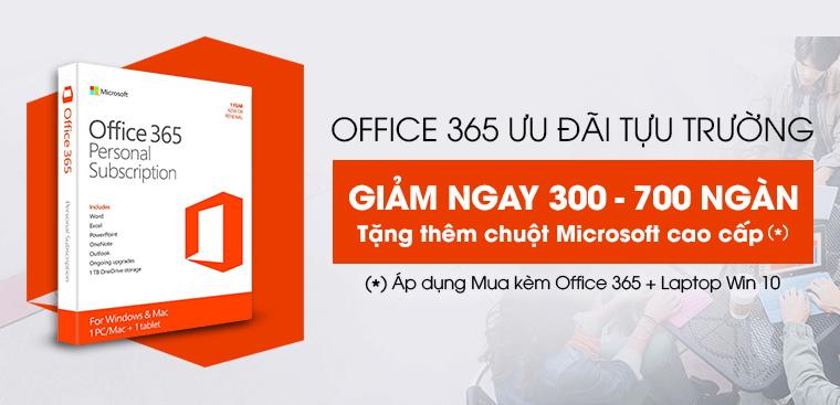 Mua bộ đôi Laptop Windows bản quyền và Office 365 tặng ngay chuột không dây Microsoft