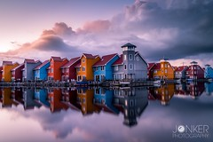 Love this place! Sunset at Reitdiephaven (melvinjonker) Tags: sonya58 sony ngc photographer composition madeinholland architecture urban city nature holland groningen reitdiephaven reitdiep longexposure landscape symmetrisch reflections waterhouses houses water colours skyperfection skylovers sky clouds sunset sun