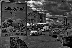 Dark Clouds (RadarOReilly) Tags: berlin deutschland germany strase street plakat poster wolken clouds