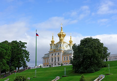 Petergof 03 (mpetr1960) Tags: petersburg people russia building tree sky grass clouds green tour nikon d810 petergof