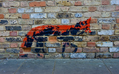 Urban Foxes (Hiding In Plain Sight) (DobingDesign) Tags: streetphotography kent whitstable stencil likebanksy bricks artwork graffitti brickwork outdoor brick texture stonework illustration character