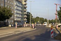 In engem Radius fhrt das Ausrckgleis auf die Neubaustrecke. In den ersten Planungen war dieses Gleis noch nicht vorgesehen (Frederik Buchleitner) Tags: baustelle bergamlaim haidhausen linie25 mvg munich mnchen neubaustrecke steinhausen strasenbahn streetcar tram trambahn