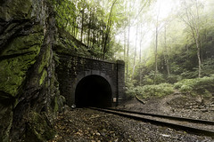 The Bloody Pit - Hoosac Tunnel (Frank C. Grace (Trig Photography)) Tags: florida massachusetts unitedstates northadams newengland legend haunted haunting history historic paranormal bloodypit pit train tunnel mohawktrail traintracks mist morning fall autumn legendtripping frankcgrace trigphotography d810 nikon
