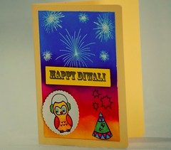 Happy Diwali (unnati_k_rana) Tags: happydiwali happynewyearcard happydiwalicard happynewyear handmade handmadecard handmadepapers distressink inkblending inkblendingtechnique rangerdistressink diwalicard googlyeyes fireworks crackers embossingbackground embossingtechnique embossing whiteembossing diwalicackers diwalicelebration lawnfawn owl