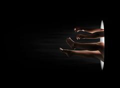 (EnKajsa) Tags: enkajsa kajsa eriksson fotokajsa sweden sverige karlshamn selfie self selfportrait hands legs arms feet fall right black white hole weird crazy girl woman portrait beautiful dark space light alice falling nude skin art nikon d7000 fairytale horror