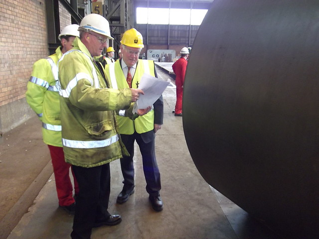 Charles Hendry's visit to Harland & Wolff