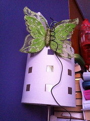 Beside the bed (Cle0patra) Tags: lamp butterfly wellington 2012