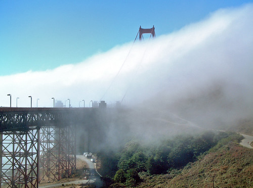 Golden Gate and fog