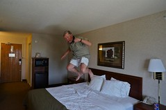 Bed Jumping in Room 327 (ricko) Tags: me jumping bed emporia hotelroom 327 holidayinnexpress mdpd12 mdpd1205