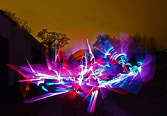 I live my life at Lightspeed. (czd72) Tags: light art manipulated dark painting graffiti with space alien style shannon techno score synthetic wildstyle 303 artattack lightspeed 808 futurestyle