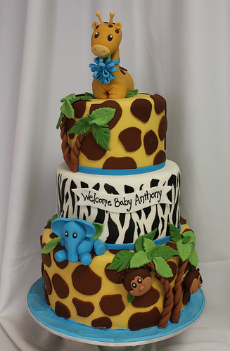 Giraffe and Jungle Baby 3-Tiered Custom