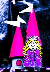 Princesa Sant Jordi (cosmona) Tags: color dragon colores infantil contraste carton mueco papel princesa jordi sant castillo juguetes saturado juguete caballero mueca santjordi saturacion