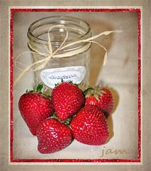 strawberries (champbass2) Tags: california red northerncalifornia fruit strawberry sweet jar jam canning luscious canningjar freshstrawberries champbass2 wantinsomestrawberryjam