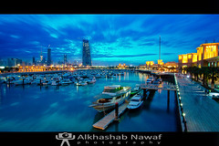 Blue hour @ Soug Sharq (AlkhashabNawaf) Tags: blue seascape night canon landscape cool cityscape shot mark ii hour 5d kuwait 1740l sharq soug
