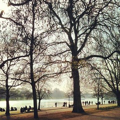 A Sunday Afternoon (Oli Mille) Tags: uk people lake color tree london nature water square march flickr afternoon sunday squareformat rise iphone 2011 leasure iphoneography iphonagraphy blinkagain instagram instagramapp uploaded:by=instagram instagramer olimille