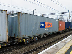 608004 Northampton 280212 (Dan86401) Tags: wagon northampton flat container fl outer modal fsa freightliner 608 intermodal ponedlloyd 4l41 608004