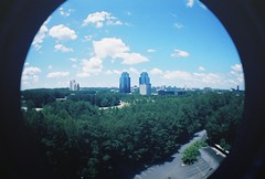 Kodak Ektar 100 (Reginald Watkins) Tags: blue sky color colour clouds lomo lomography king kodak queen 100 obama ektar