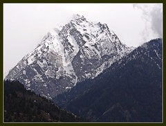 Kinner Kailash looming over Recong Peo (Indianature4) Tags: india mountains hp april himachal himalayas 2012 himachalpradesh kinnaur peo indianature recongpeo snonymous