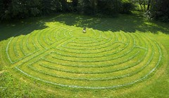 Turf Labyrinth (wplynn) Tags: france church grass paint christ cathedral indianapolis painted indiana 11 christian circuit eleven labyrinth turf chartres disciplesofchrist christianchurch disciples mowed 11circuit allisonvillechristianchurch