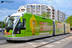 "Bombardier TVR ""Sitron"" (Alexandre Prvot) Tags: france public station transport tram stan nancy avenue rue lorraine passager tramway tvr bombardier voyageurs voyageur passagers commun"