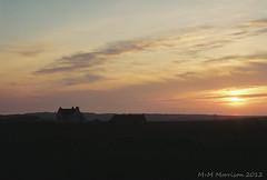 Sunset Over Morven (M+M Morrison) Tags: sunset sun canonav1 art clouds canon stars gold star gallery kodak grain lewis galleries 200 miranda setting isle isleoflewis 2870 av1 morven barvas