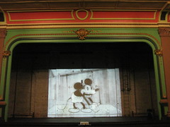 """Micky's Follies"", 1929; Shown in the Theatre of the Ballarat Mechanics' Institute - Sturt Street, Ballarat (raaen99) Tags: city red brown building green heritage film century vintage gold hall education theatre library cartoon pillar decoration cell australia victoria disney institute national frame victoriana mickeymouse trust animation civic classical column lecture 1850s ballarat 19th goldrush listed 1929 gilt waltdisney 20s corinthiancolumn lecturehall ornamentation nineteenth 1859 sillysymphony countryvictoria lecturetheatre blackandwhitefilm mechanicsinstitute freelibrary adulteducation talkies jadegreen sturtstreet heritageweekend sturtst vintagefilm goldrushera corinthianpillar provincialvictoria ballaratmechanicsinstitute educationalestablishment waltdisneycartoon ballaratheritageweekend technicalinstitution mickeysfollies landmarkbuildingarchitecture historyhistoricaldecoration1860s1870s"