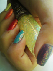 Arco Íris (kktibinha) Tags: art nail polish nails impala unhas esmalte flocado